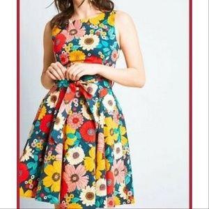ixia Flower Power Retro Blossom Dress M Multicolor